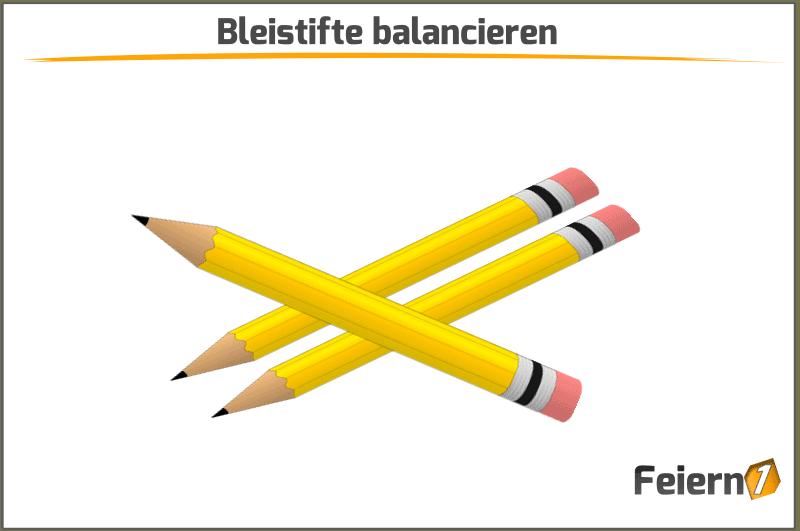 Bleistifte balancieren