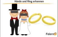 Hände und Ring erkennen