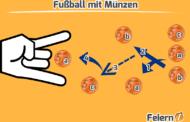 Fußball mit Münzen