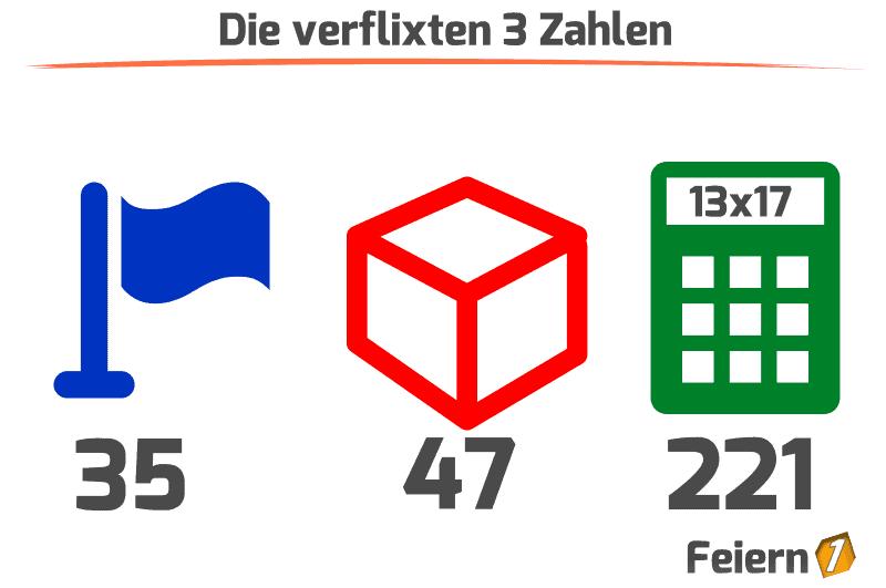 Die verflixten 3 Zahlen