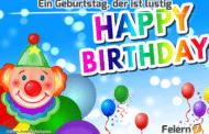 Ein Geburtstag, der ist lustig