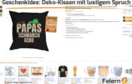 Geschenkidee: Deko-Kissen mit lustigem Spruch