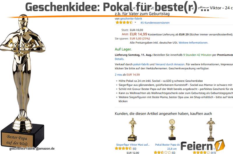 Geschenkidee: Pokal für beste(r) …