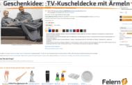 Geschenkidee: TV-Kuscheldecke mit Ärmeln