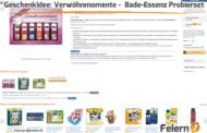 Geschenkidee: Verwöhnmomente - Bade-Essenz Probierset