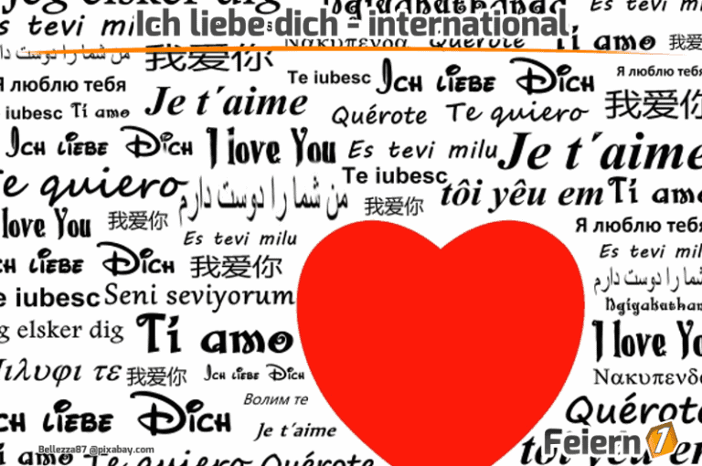 Ich liebe dich - international - Feiern1.de
