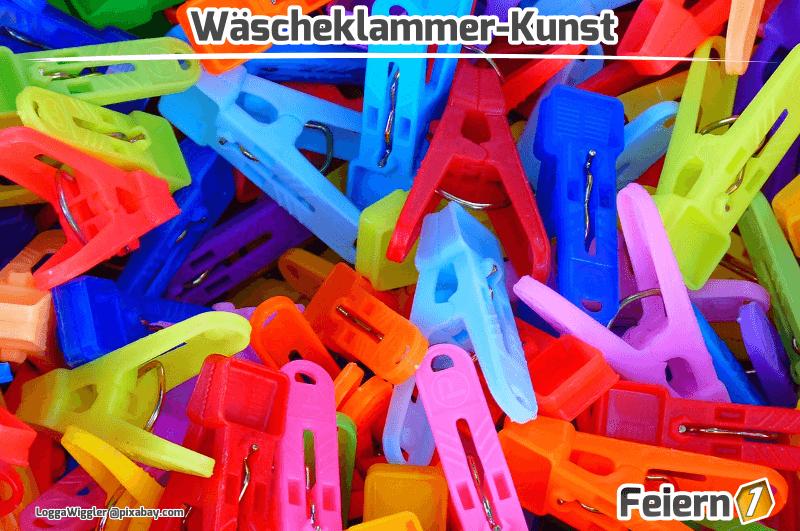 Wäscheklammer-Kunst