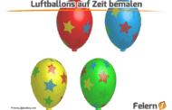 Luftballons auf Zeit bemalen