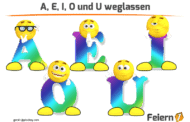 A, E, I, O und U weglassen