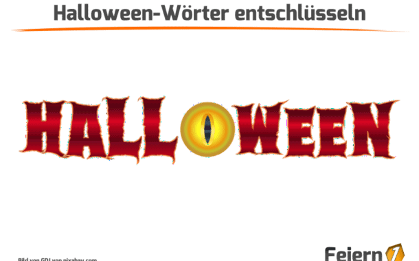 Halloween-Wörter entschlüsseln