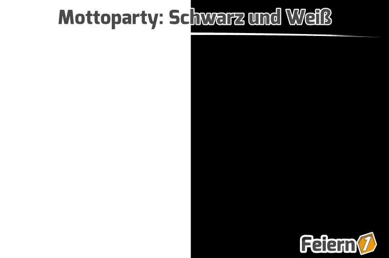 Mottoparty: Schwarz und Weiß